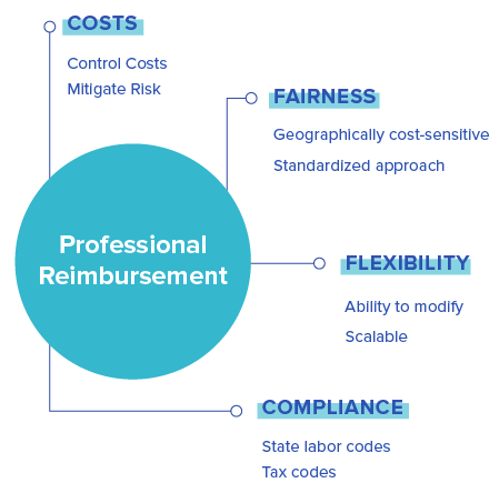 Diagram of the anatomy of a professional reimbursement