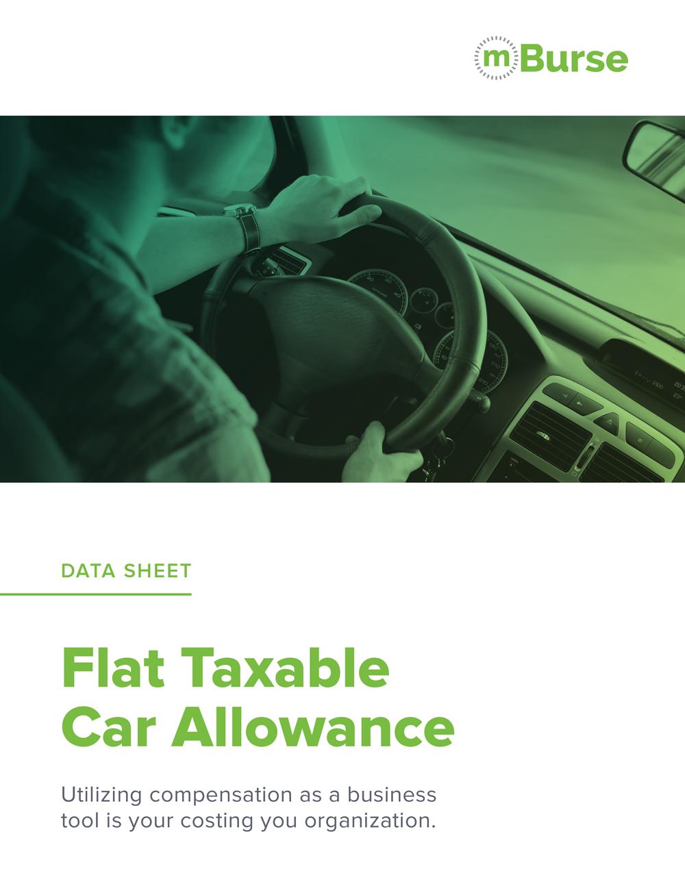 mBurse Car Allowance data sheet