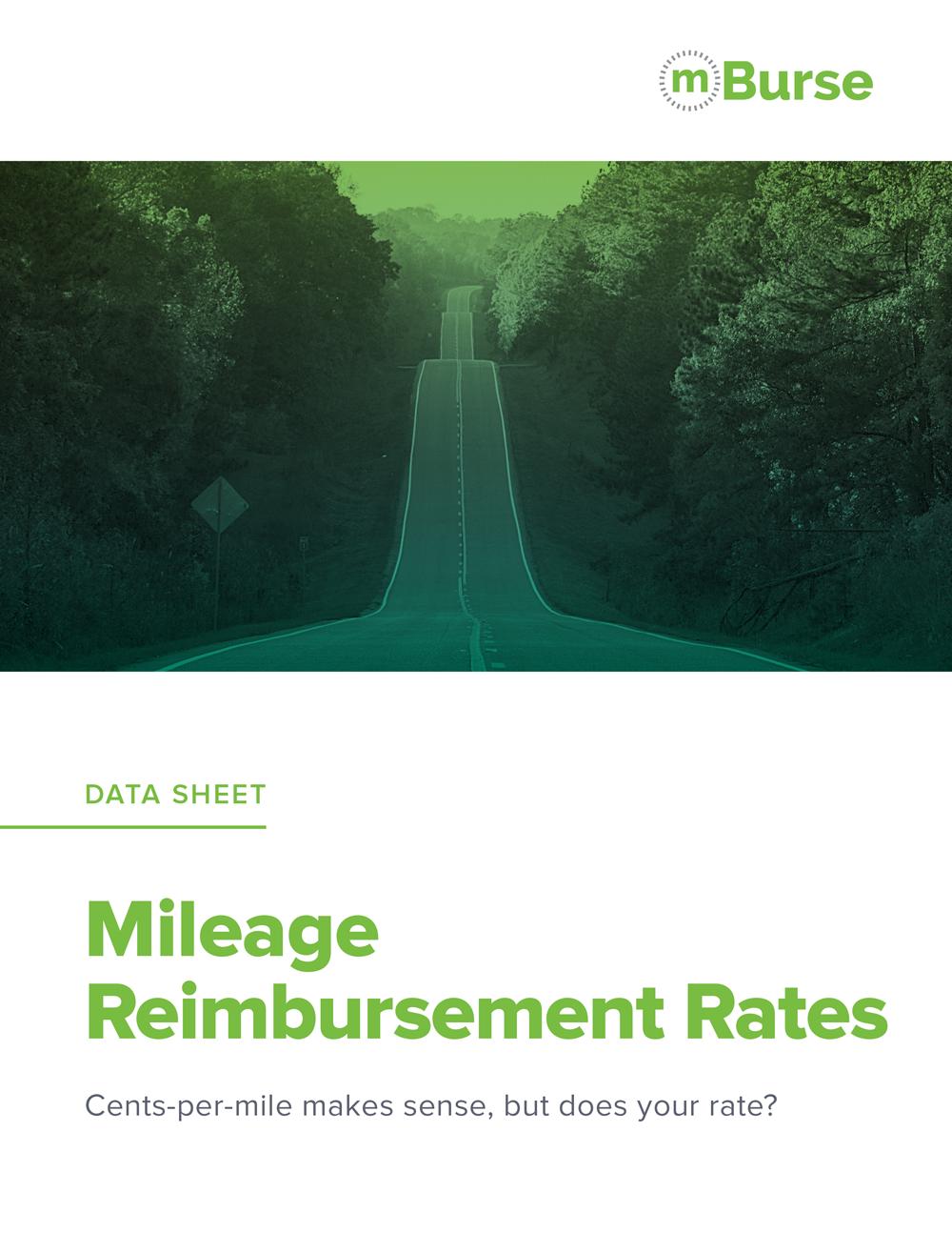 mBurse Mileage Reimbursement data sheet