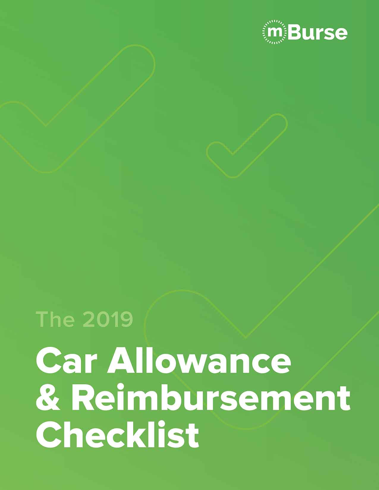 mBurse 2019 car allowance checklist